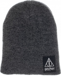 View Buying Options For The Harry Potter Deathly Hallows Marled Knit Slouch Beanie