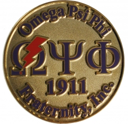 View Buying Options For The Omega Psi Phi Bolt Sandblast & Raised Lapel Pin