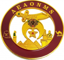 View Buying Options For The AEAONMS Shriner Round Cut Out Car Emblem
