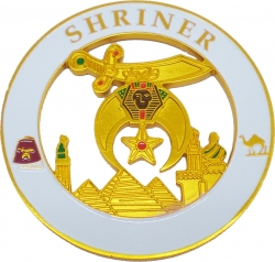 View Buying Options For The Shriner Round Cut Out Car Emblem