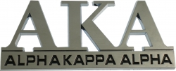 View Buying Options For The Alpha Kappa Alpha Chrome Cut Out Car Emblem