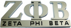 View Buying Options For The Zeta Phi Beta Chrome Cut Out Car Emblem