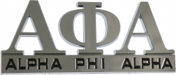 View Buying Options For The Alpha Phi Alpha Chrome Cut Out Car Emblem