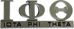 View Buying Options For The Iota Phi Theta Chrome Cut Out Car Emblem