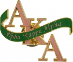 View Buying Options For The Alpha Kappa Alpha Banner Lapel Pin