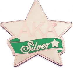 View Buying Options For The Alpha Kappa Alpha Silver Star Lapel Pin