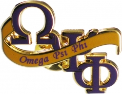 View Buying Options For The Omega Psi Phi Banner Lapel Pin