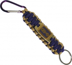 View Buying Options For The Omega Psi Phi Paracord Survival Key Chain w/Carabiner/Split Hook