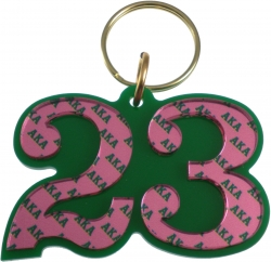 View Buying Options For The Alpha Kappa Alpha Color Mirror Line #23 Keychain