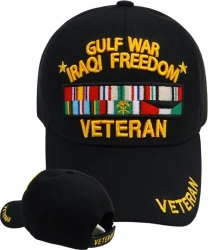 View Buying Options For The Gulf War Iraqi Freedom Veteran Ribbons Sandwich Bill Mens Cap