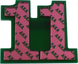 View Buying Options For The Alpha Kappa Alpha Acrylic Line #11 Mirror Lapel Pin