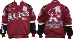 View Buying Options For The Alabama A&M S9 Mens NASCAR Racing Twill Jacket