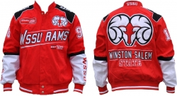 View Buying Options For The Winston Salem State S9 Mens NASCAR Racing Twill Jacket