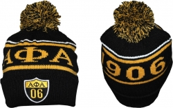 View Buying Options For The Alpha Phi Alpha Divine 9 S8 Cuff Beanie Cap with Ball