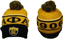 View Buying Options For The Big Boy Alpha Phi Alpha Divine 9 S8 Mens Cuff Beanie Cap with Ball