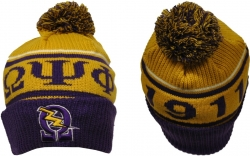 View Buying Options For The Omega Psi Phi Divine 9 S8 Mens Cuff Beanie Cap with Ball