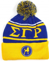 View Buying Options For The Big Boy Sigma Gamma Rho Divine 9 S8 Ladies Cuff Beanie Cap with Ball