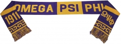 View Buying Options For The Omega Psi Phi Divine 9 S2 Knit Scarf