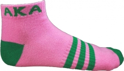 View Buying Options For The Alpha Kappa Alpha Striped Pair Ladies Ankle Socks
