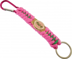 View Buying Options For The Alpha Kappa Alpha Paracord Survival Key Chain w/Carabiner/Split Hook