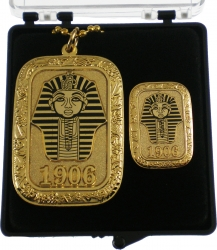 View Buying Options For The Alpha Phi Alpha Gold Slab Dog Tag & Lapel Pin Set