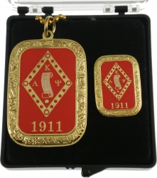 View Buying Options For The Kappa Alpha Psi Gold Slab Dog Tag & Lapel Pin Set