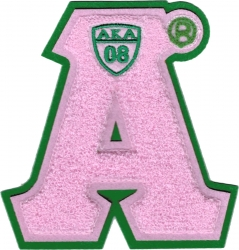 View Buying Options For The Alpha Kappa Alpha Letter Shield Chenille Sew-On Patch