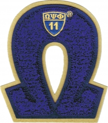 View Buying Options For The Omega Psi Phi Letter Shield Chenille Sew-On Patch
