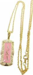 View Buying Options For The Alpha Kappa Alpha Antique Filigree Pendant with Chain