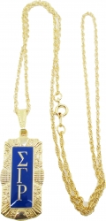 View Buying Options For The Sigma Gamma Rho Antique Filigree Pendant with Chain