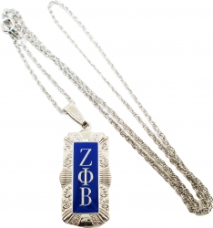 View Buying Options For The Zeta Phi Beta Antique Filigree Pendant with Chain