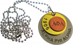 View Buying Options For The Alpha Phi Alpha Stamped ID Tag with Chain