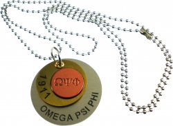 View Buying Options For The Omega Psi Phi Stamped ID Tag with Chain