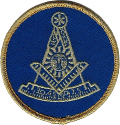 View Buying Options For The Past Master Mason Gold Bullion Thread Round Iron-On Patch