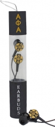 View Buying Options For The Alpha Phi Alpha Greek Beats Performance Earbuds