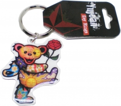 View Buying Options For The Dancing Bear with Rose Metal Keyring