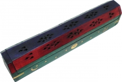 View Buying Options For The Carved Coffin Brass Inlay Ash Catcher Incense Stick & Cone Holder