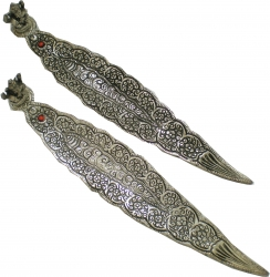 View Buying Options For The Ganesh On Long Leaf Metal Incense Burner Set [Pre-Pack]