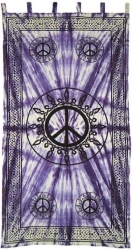 View Buying Options For The Peace Sign Tie Dye Window Curtain