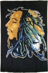 View Buying Options For The Bob Marley and Lion Twin Size Bedspread Cloth Tapestry