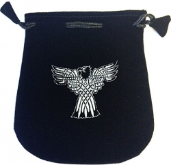 View Buying Options For The Celtic Eagle Double Sided Drawstring Velvet Pouch/Bag [Pre-Pack]