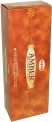View Buying Options For The HEM Amber Boxed Incense Sticks [Pre-Pack]