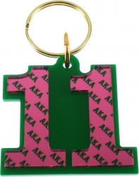 View Buying Options For The Alpha Kappa Alpha Color Mirror Line #11 Keychain