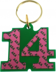 View Buying Options For The Alpha Kappa Alpha Color Mirror Line #14 Keychain