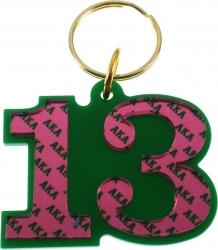 View Buying Options For The Alpha Kappa Alpha Color Mirror Line #13 Keychain