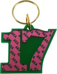 View Buying Options For The Alpha Kappa Alpha Color Mirror Line #17 Keychain