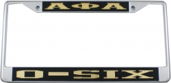 View Buying Options For The Alpha Phi Alpha O-Six License Plate Frame