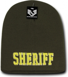 View Buying Options For The RapDom Sheriff Public Safety Short Knit Mens Beanie Cap