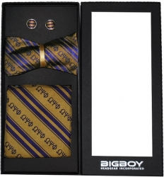 View Buying Options For The Big Boy Omega Psi Phi Divine 9 Untied Mens Bowtie Set