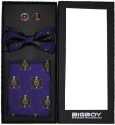View Buying Options For The Big Boy Omega Psi Phi Divine 9 S2 Pretied Mens Bowtie Set
